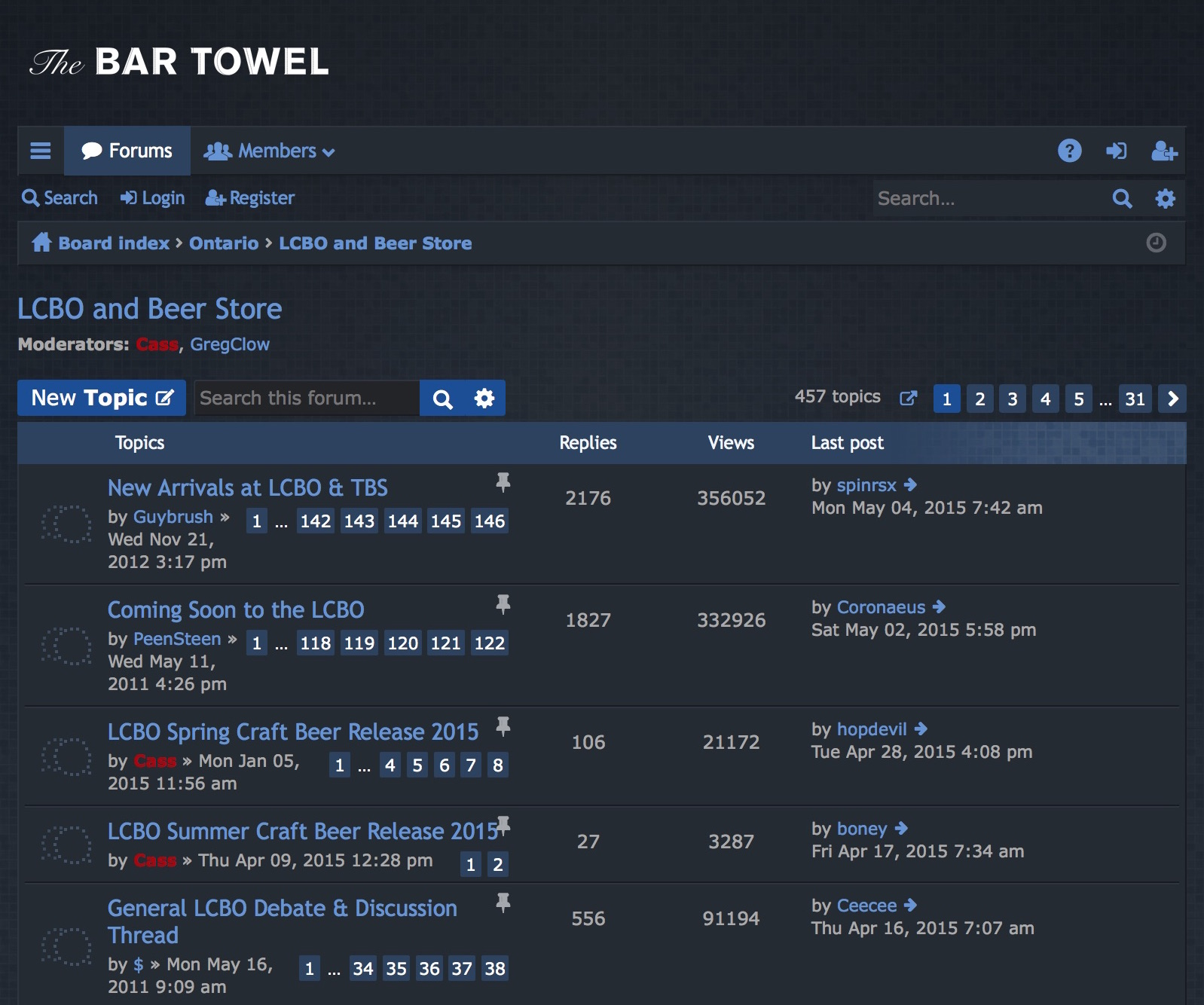 The Bar Towel Discussion Forum Relaunches