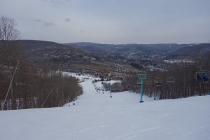 The view atop the Holiday Valley ski resort.