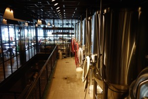 A view from Cruz Blanca's brewhouse.