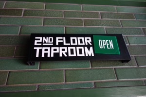 2nd floor taproom is usually open.