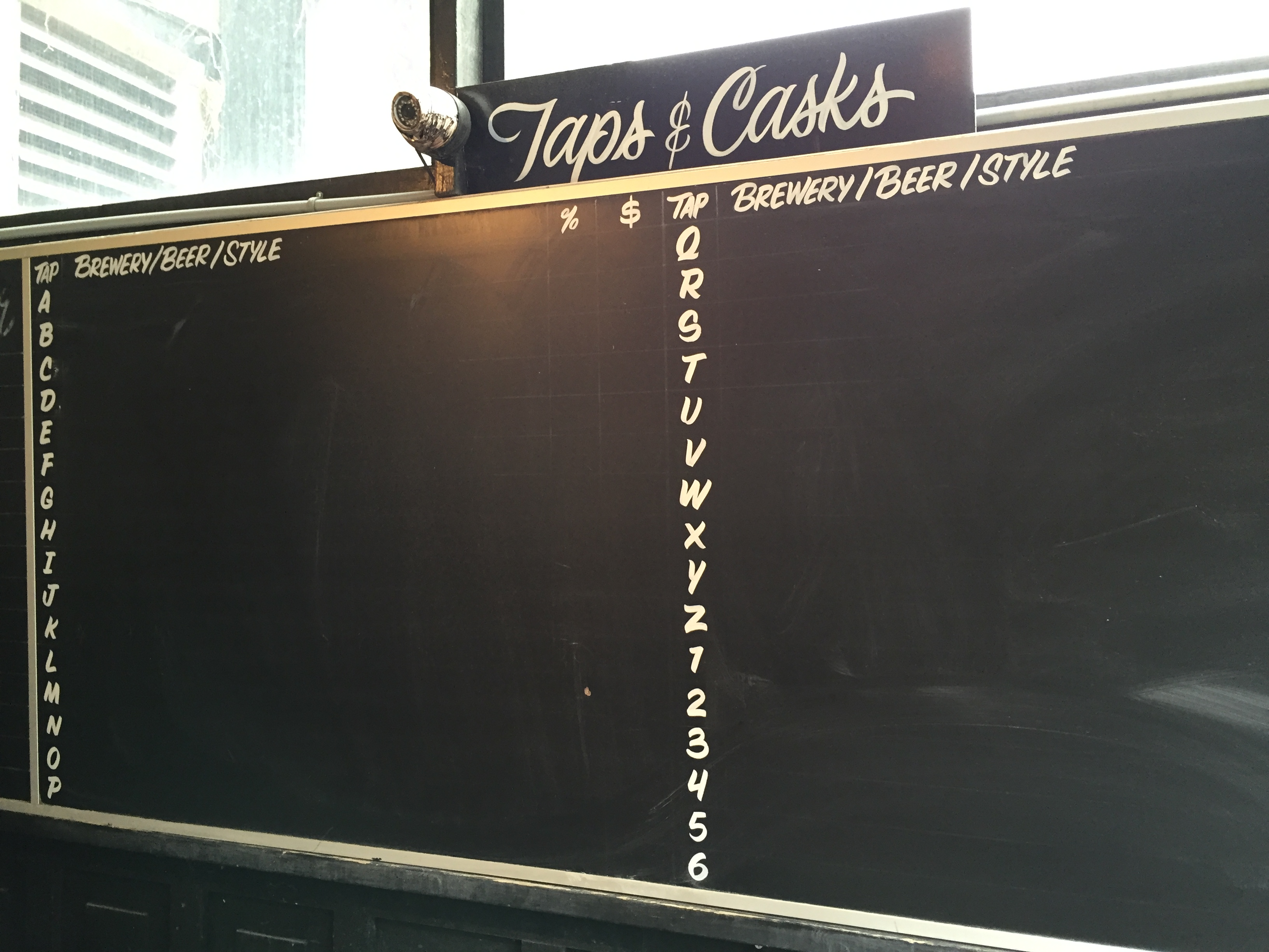 Bar Volo - Outside Tap Board
